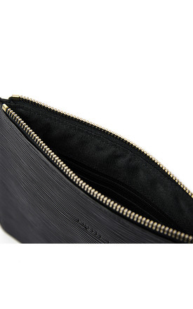 Small Ribbed Clutch Bag - Black by Pretty Lavish