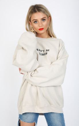 CAN'T BE TAMED SWEATER-NUDE by Cats got the Cream