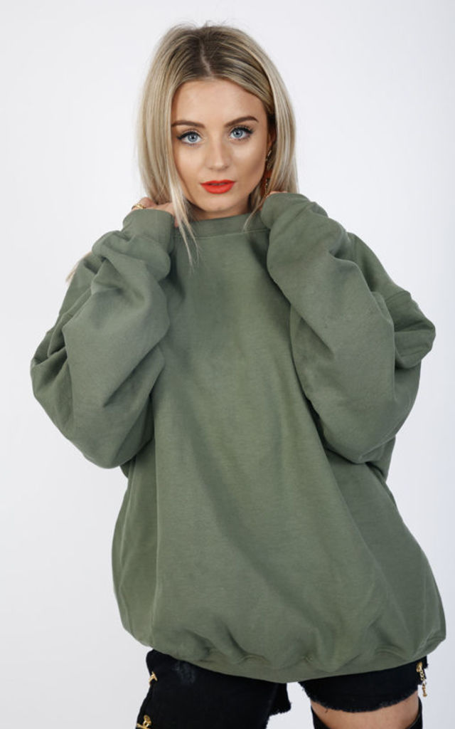 ultimate BOYFRIEND SWEATER- KHAKI by Cats got the Cream