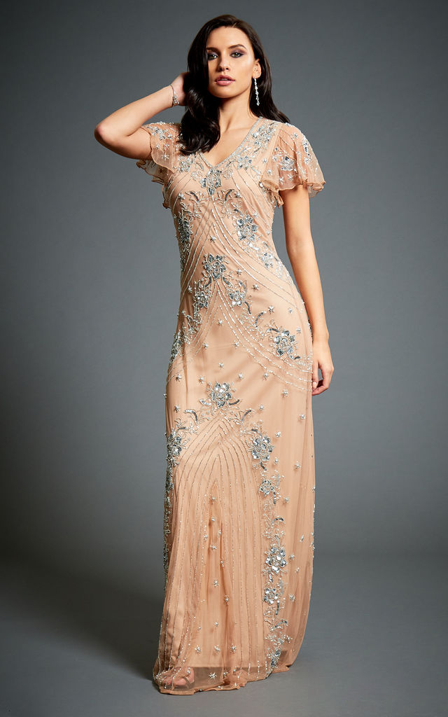 cc9b0603bb3 Lucy Embellished 1920s Great Gatsby Inspired Evening Maxi Dress by Jywal