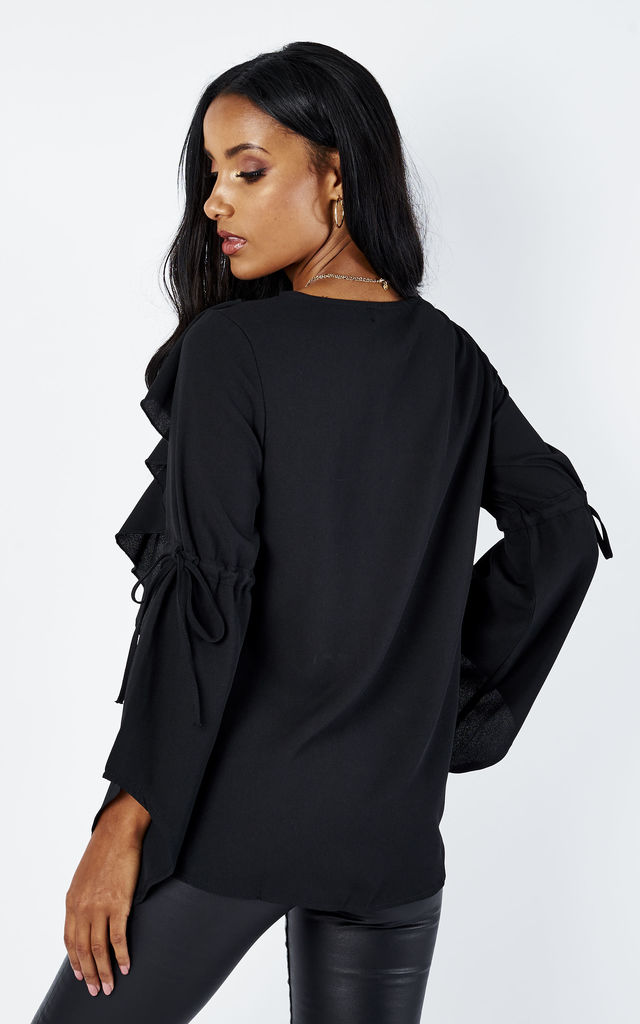 Black Ruffle Blouse by Oeuvre