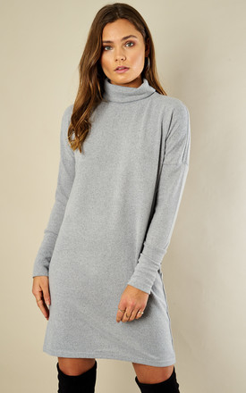 Grey Long Sleeved Bat Wing Dress by Noisy May Product photo