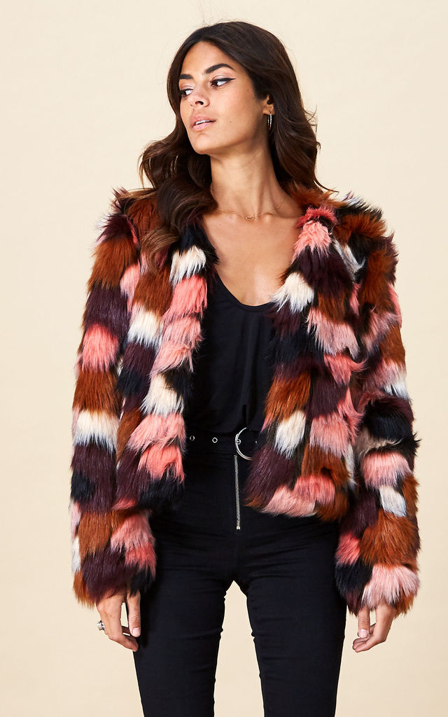 Paris Faux Fur in Pink Marble by Dancing Leopard