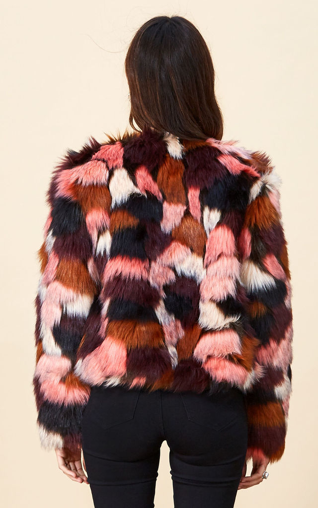 Paris Faux Fur in Pink Marble image