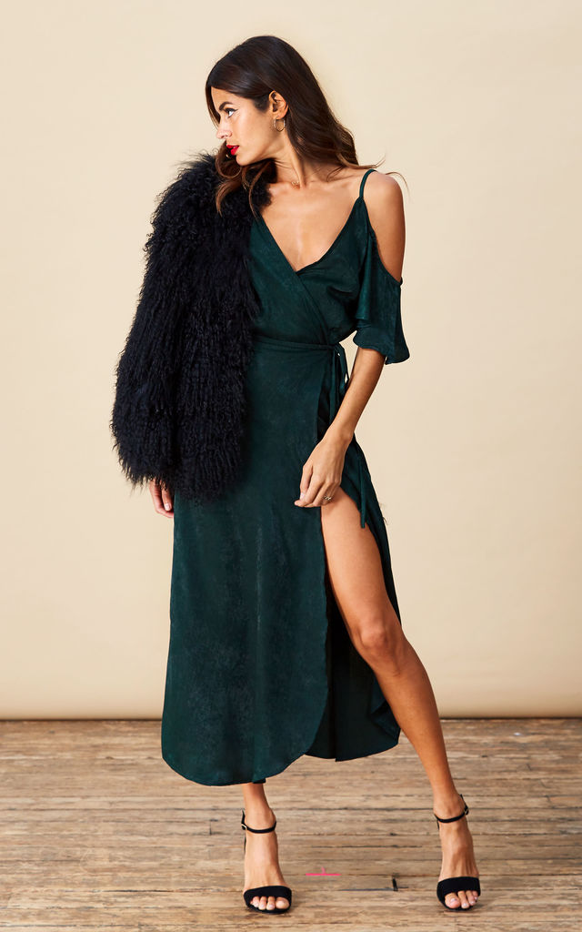Ivy Dress in Pine Green image