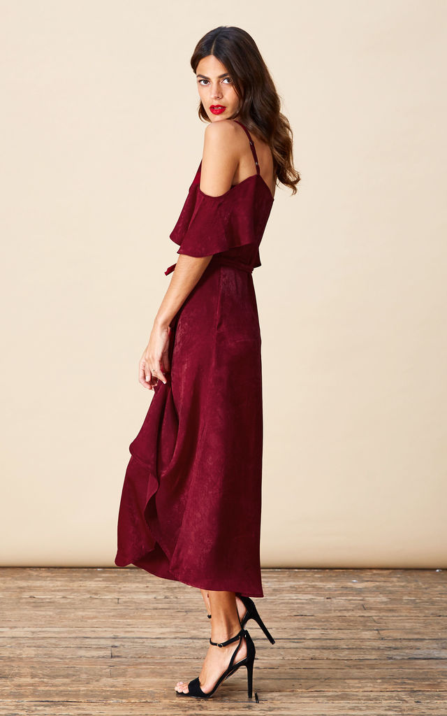 IVY DRESS IN OXBLOOD image