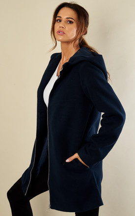 Navy Zip Coat by VILA