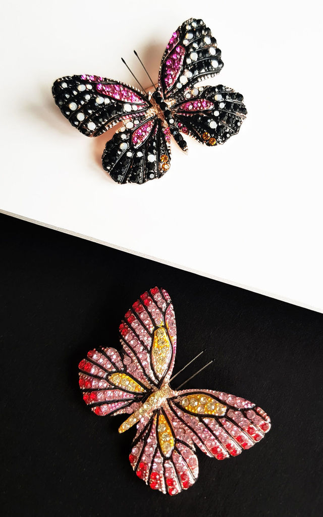 Spread Your Wings Set Of 2 Brooches by KITES AND BITES