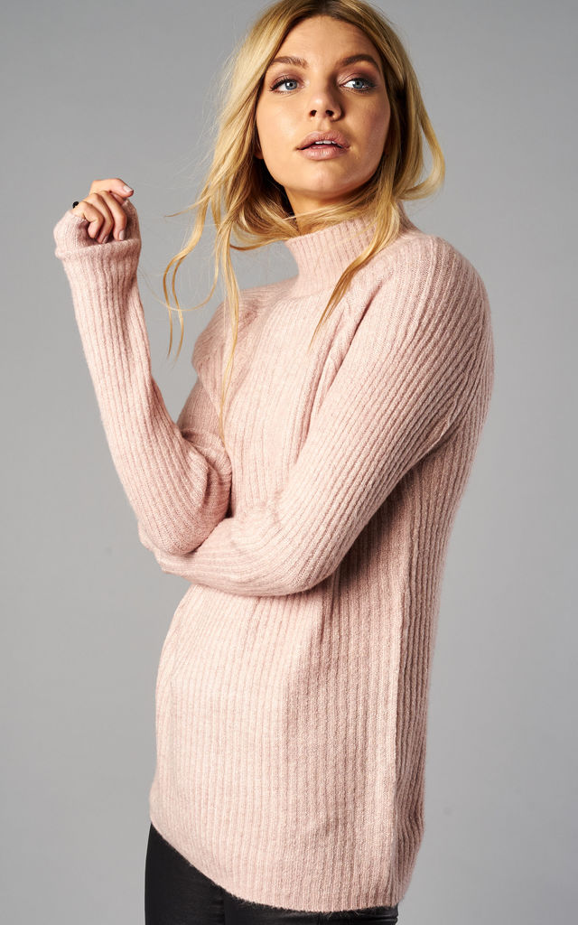 ROSE LONG SLEEVE HIGH NECK PULLOVER by ONLY