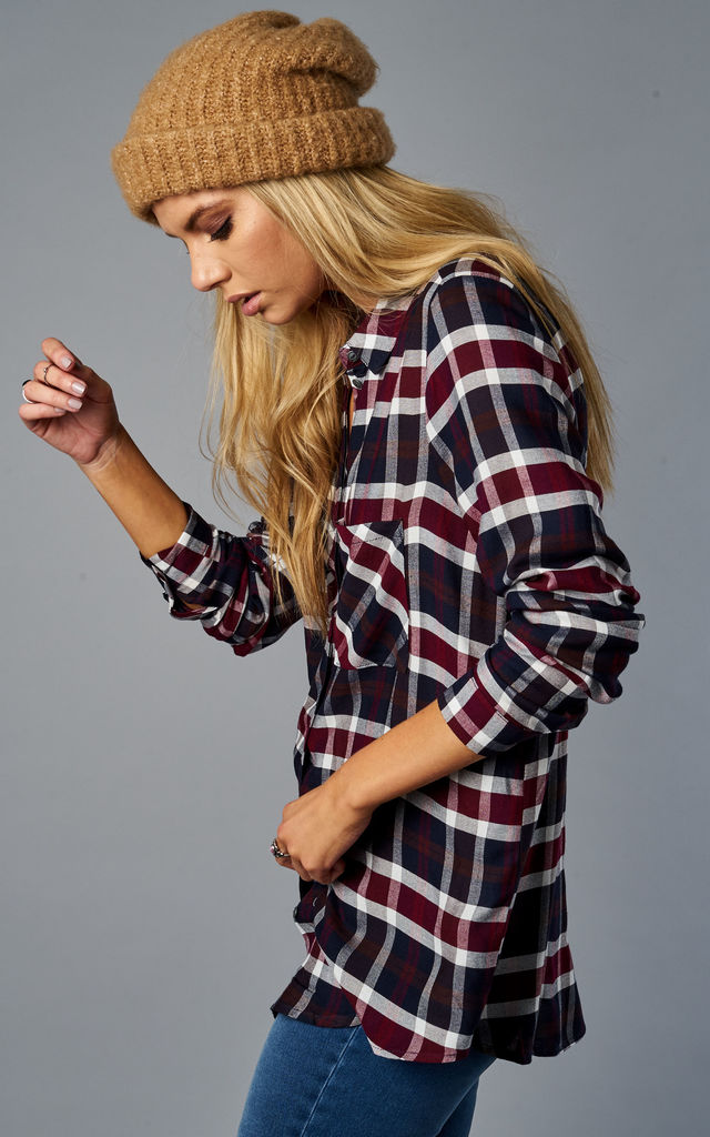 CLOUD DANCER AND PORT ROYAL LONG SLEEVE CHECK SHIRT by ONLY