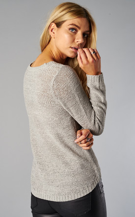 SILVER LONG SLEEVE PULLOVER KNIT by ONLY