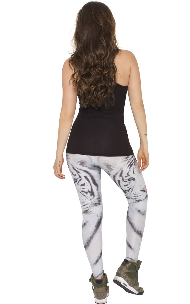 White Tiger Leggings by AMiCAFOX