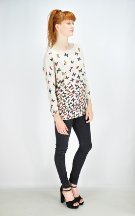 GOLDKID LONDON - Colorful Butterfly Print Oversized Jumper by GOLDKID LONDON