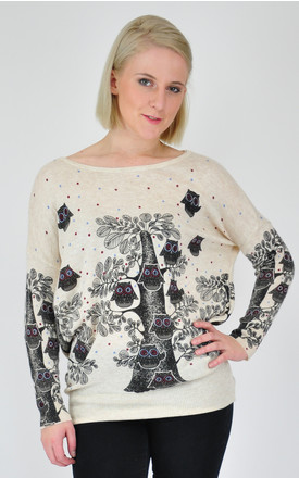 GOLDKID LONDON - Owl Print Oversized Jumper by GOLDKID LONDON