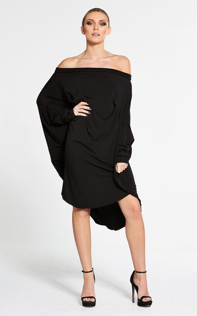 Oversized Black Circle Dress by Mccullock Women