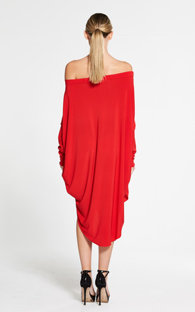 Red Circle Dress by Mccullock Women