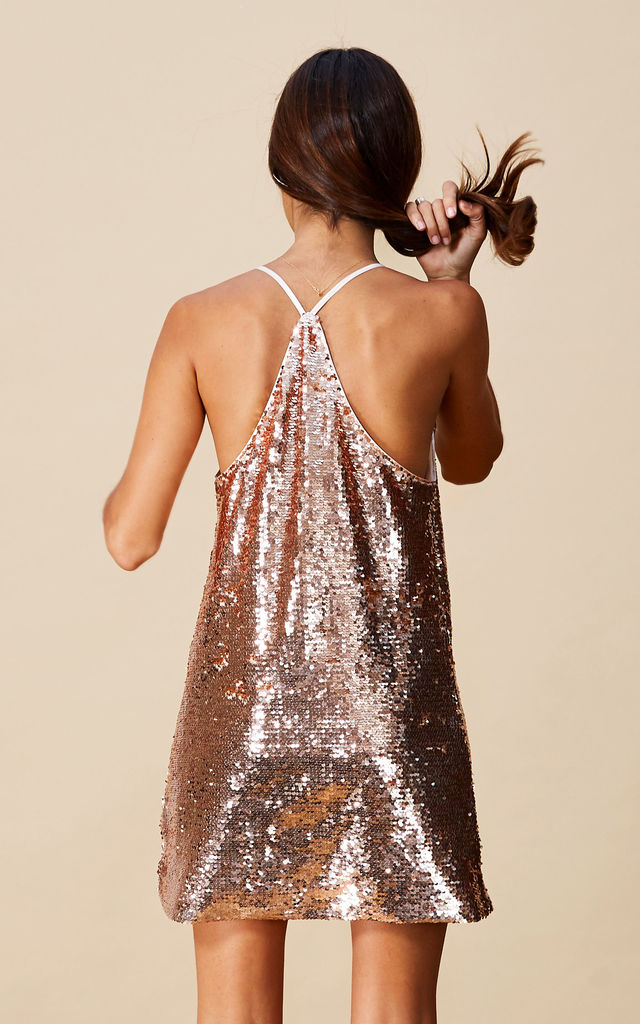 ANOOKI DRESS IN ROSE GOLD image