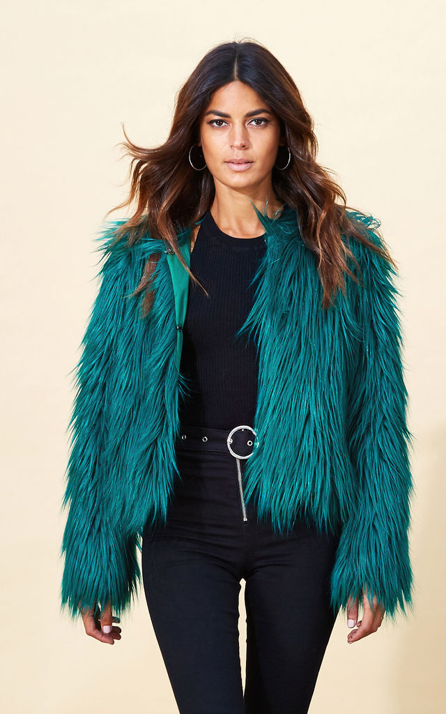 Paris Faux Fur in Pine Green image