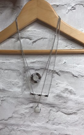 3 ROW CHARM NECKLACE by EPITOME JEWELLERY