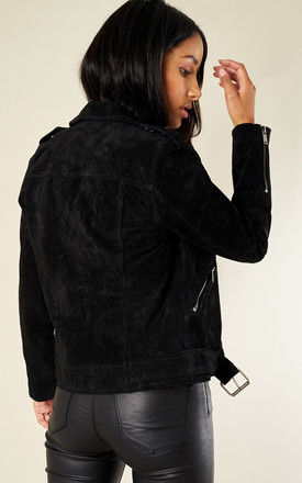 BLACK SUEDE LEATHER JACKET by Selected Femme