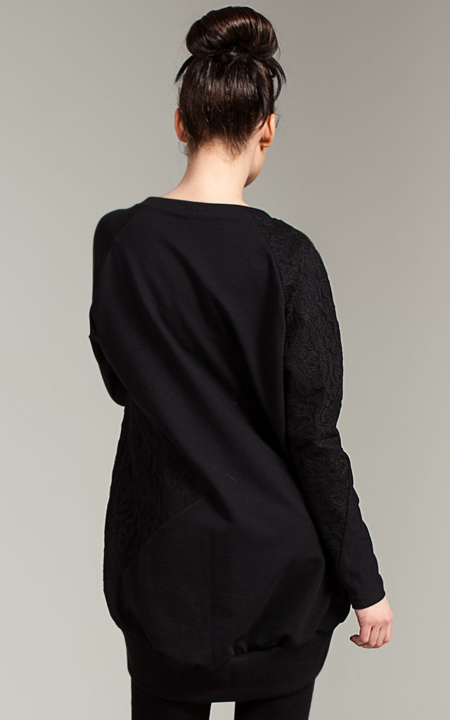 Black oversize long sleeve sweatshirt by MOE