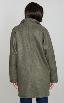 Olive Stylish Coat With Buttons by FIGL