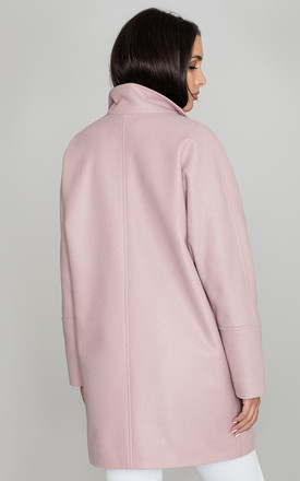 Oversized Button Up Coat in Light Pink by FIGL
