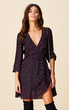 Ziggy Dress In Midnight Red Star by Dancing Leopard Product photo