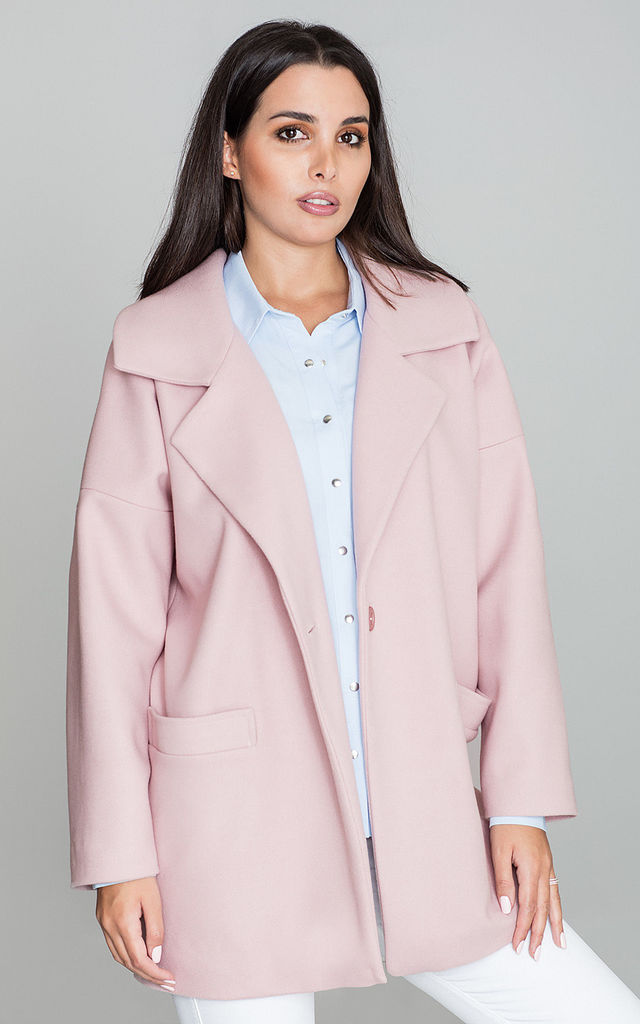 Pink Collar Coat with Pockets by FIGL
