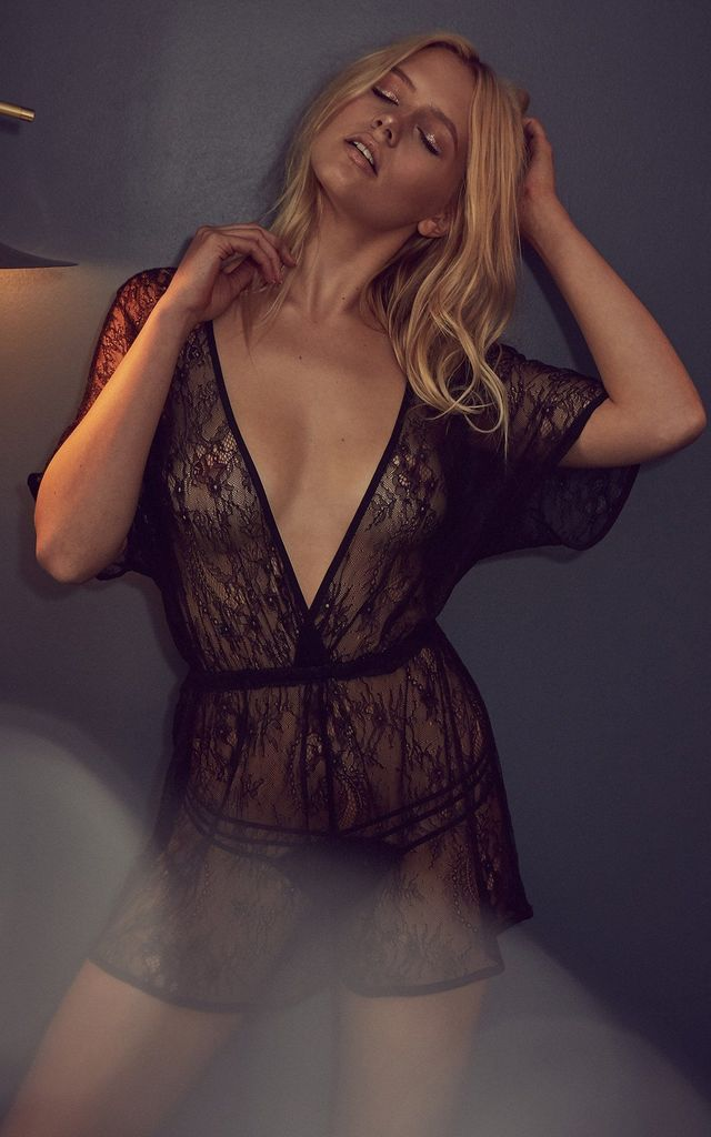 ETTA LACE PLAYSUIT by Wolf & Whistle