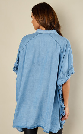 Denim Frill Side Top by London End