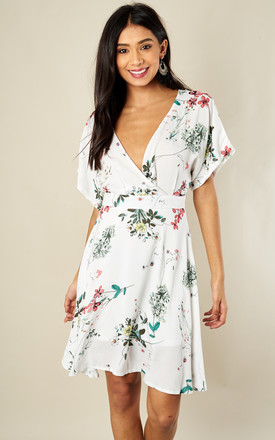 Garden Floral V-Neck Dress by Oeuvre