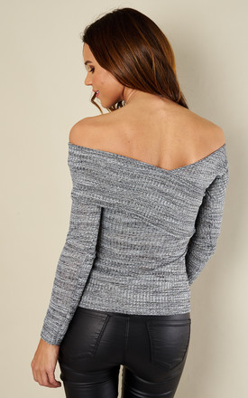 Grey wrap front top by Bella and Blue