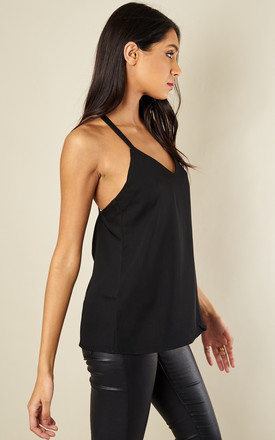 Black Cross Back Top by Glamorous