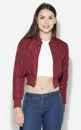 Burgundy Quilted Short Jacket by KATRUS