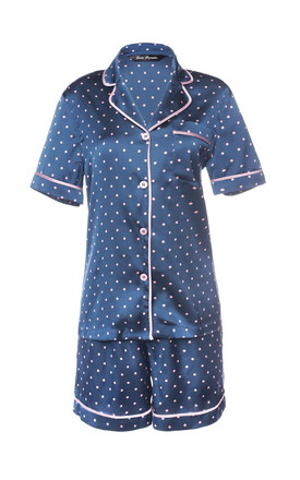Polka Short Pyjama - Blue by Lucia Berutto Europe
