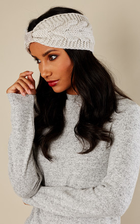 Beige Knitted head band by Bella and Blue