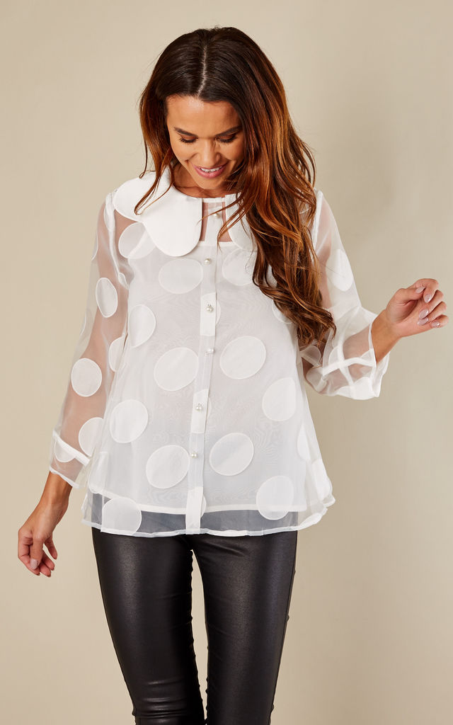 HONEY DOTS TOP WITH PEARL by Jovonna London