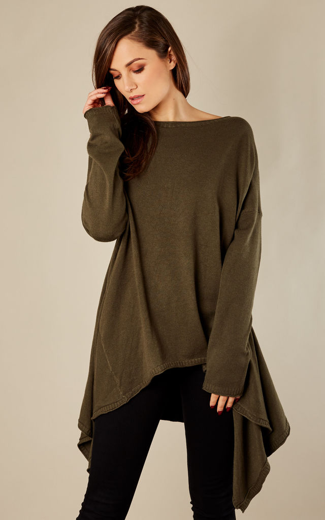 Khaki Waterfall Jumper by Bella and Blue