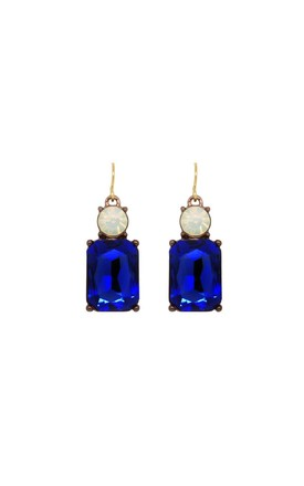 Simple Gem Earring In Deep Blue With Opal by LAST TRUE ANGEL Product photo