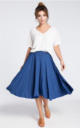 Blue knee length skirt by MOE