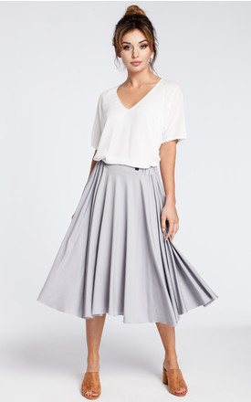 Grey knee length skirt by MOE