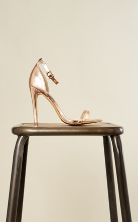 Rose Gold Barely There Heels by Truffle Collection