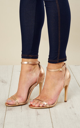 Rose Gold Barely There Heels by Truffle Collection Product photo