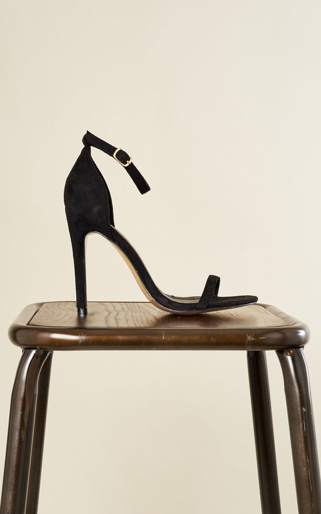 Black Barely There Heels by Truffle Collection