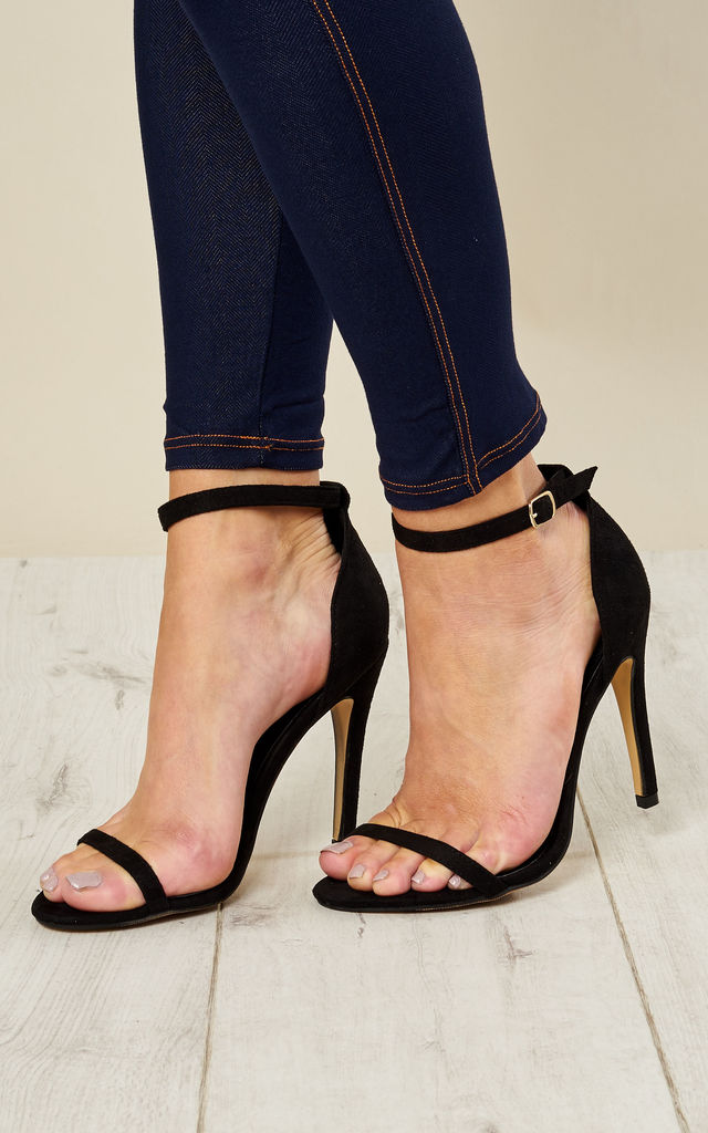 Black Barely There Heels Silkfred