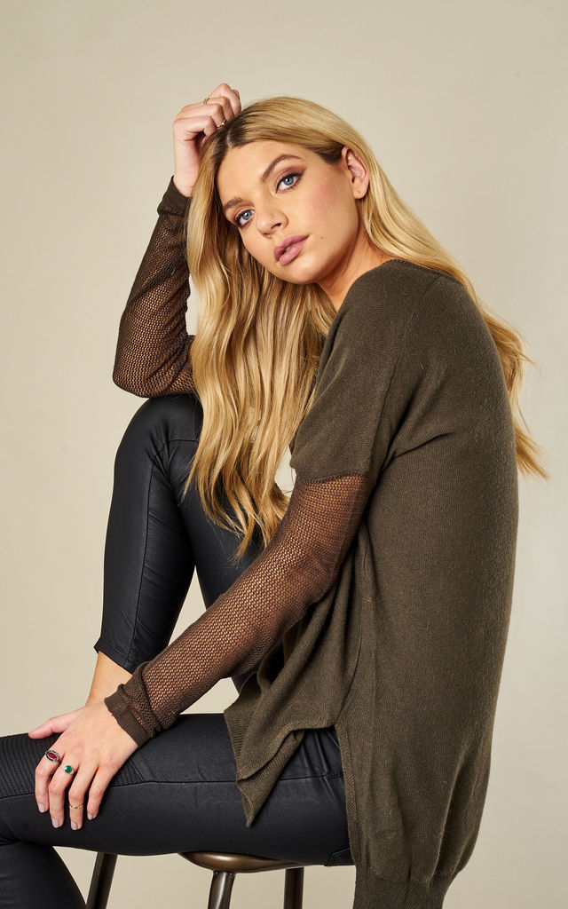 Khaki Knitted Jumper by Glamorous