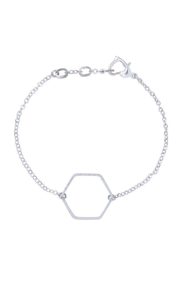 Em Hexagon Silver by Leo With Love