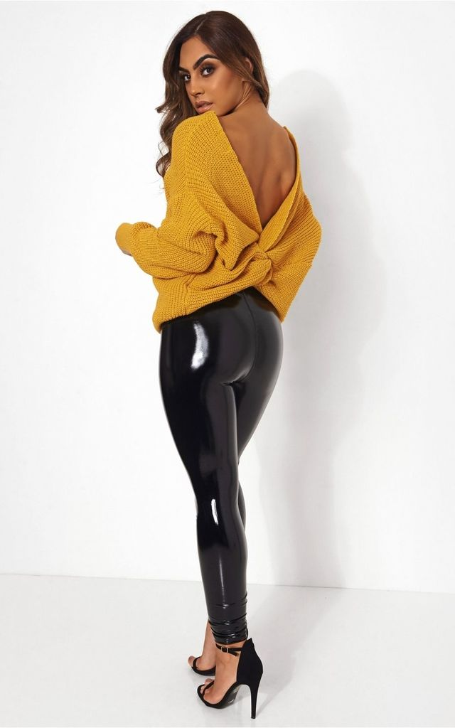 09f102ca3d7 Amelia Mustard Twist Front Jumper By The Fashion Bible