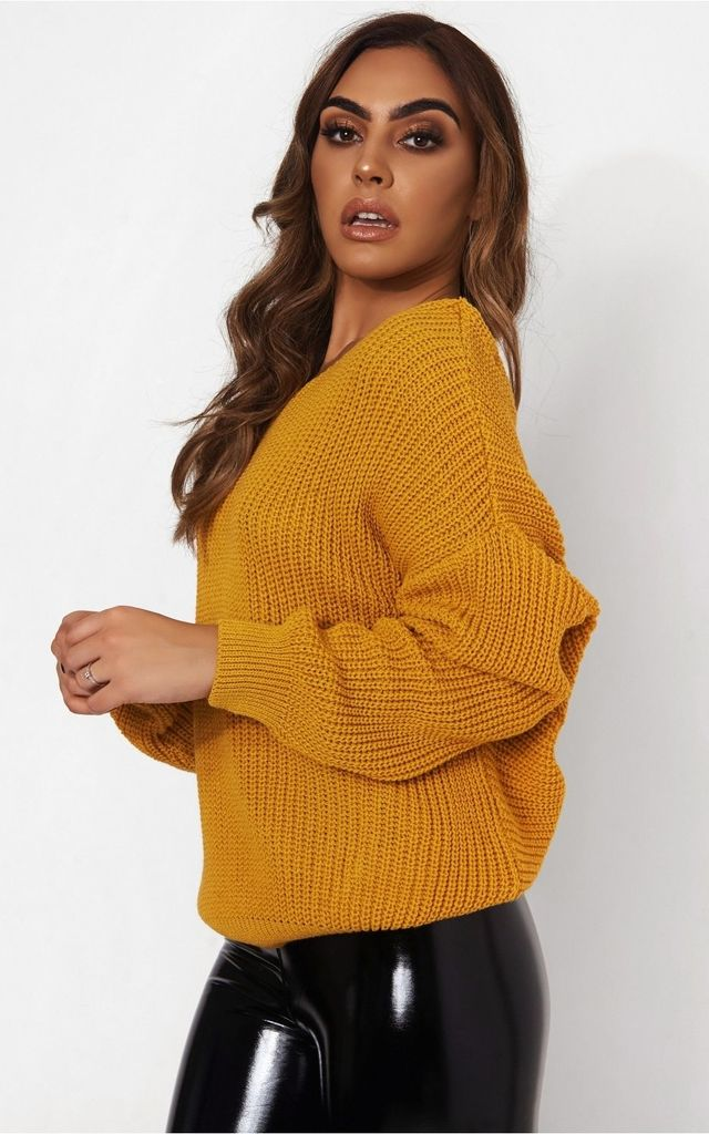 36b49369eac Amelia Mustard Twist Front Jumper | The Fashion Bible | SilkFred